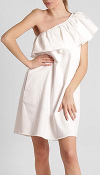 Белое платье Twin-Set на одно плечо, фото