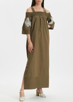 Длинное платье Twin-Set с открытыми плечами, фото