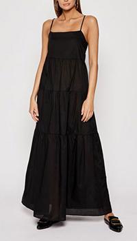 Черное платье Ea7 Emporio Armani на бретелях, фото