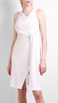 Белое платье Patrizia Pepe с разрезом, фото