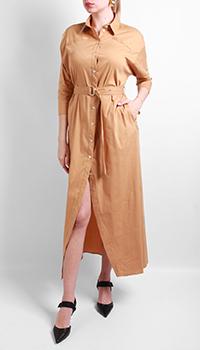 Платье-рубашка Patrizia Pepe бежевого цвета, фото
