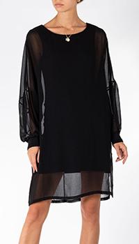 Платье с длинным рукавом Patrizia Pepe черного цвета, фото