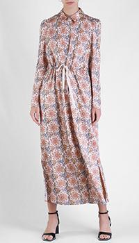 Платье-рубашка Patrizia Pepe с цветочным принтом, фото