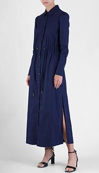 Длинное платье Patrizia Pepe синего цвета, фото
