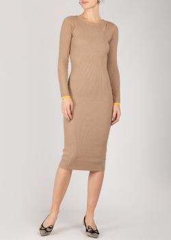 Трикотажное платье Patrizia Pepe коричневого цвета, фото