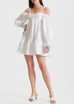 Белое платье Patrizia Pepe с открытыми плечами, фото
