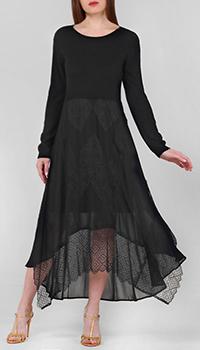 Черное платье Twin-Set с ассиметрчным подолом, фото