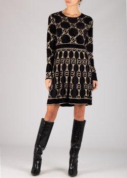 Трикотажное платье Twin-Set черного цвета, фото