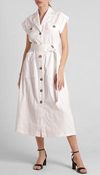Белое платье-миди Riani с поясом, фото