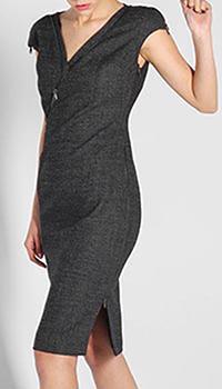 Платье-футляр Antonio Berardi серого цвета, фото