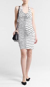 Белое платье Cavalli Class с открытой спиной, фото