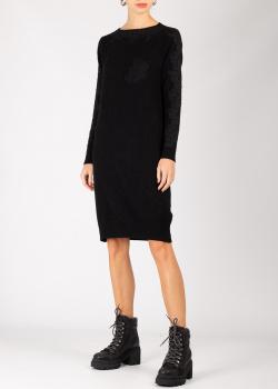 Трикотажное платье Ermanno Ermanno Scervino черного цвета, фото