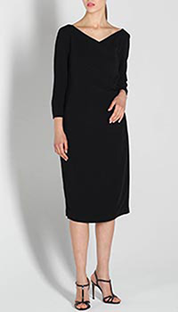 Платье Polo Ralph Lauren черного цвета с укороченным рукавом, фото