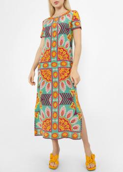 Шелковое платье Max Mara Weekend с орнаментом, фото
