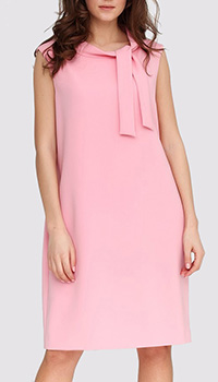 Розовое платье Boutique Moschino со стоячим воротником, фото