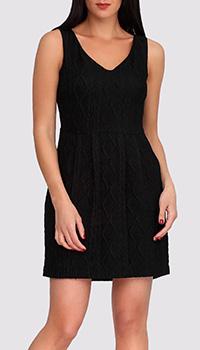Черное платье Boutique Moschino с орнаментом, фото