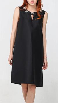 Платье Blugirl Blumarine черного цвета с декором-стразами, фото