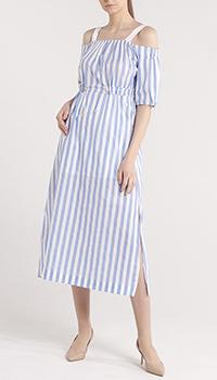 Платье-миди Trussardi Jeans в вертикальную полоску, фото