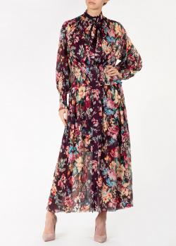 Бордовое платье Zimmermann с цветочным принтом, фото