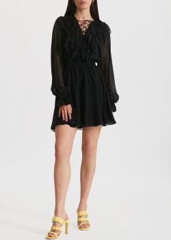 Шелковое платье Miss Sixty с рюшами, фото