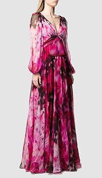 Шелковое платье Alexander McQueen с цветочным принтом, фото