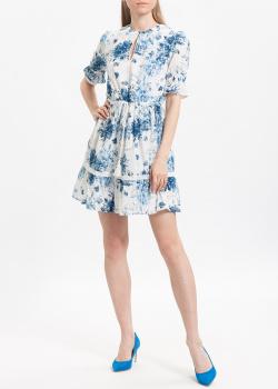 Бело-голубое платье Twin-Set My Twin с цветочным принтом, фото