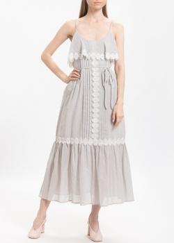 Серое платье Twin-Set с оборками, фото