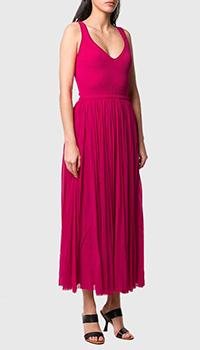 Красное платье Alexander McQueen с пышной юбкой, фото
