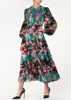 Длинное платье Zimmermann с цветочным принтом, фото