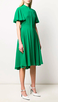 Шелковое платье Alexander McQueen с коротким рукавом, фото