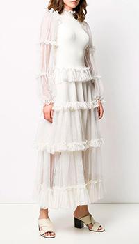 Платье с воланами Alexander McQueen из шелка, фото