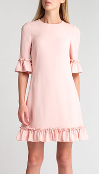 Розовое платье Dolce&Gabbana с рюшами, фото