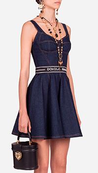 Джинсовое платье Dolce&Gabbana с юбкой-солнцем, фото