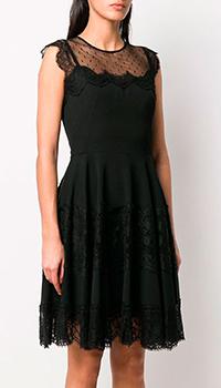 Черное платье Dolce&Gabbana с кружевом, фото