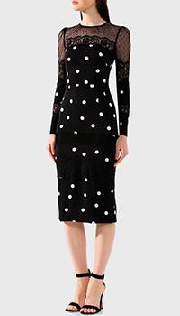 Платье из шелка Dolce&Gabbana в белый горох, фото
