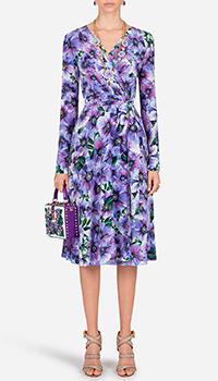 Шелковое платье Dolce&Gabbana с цветочным принтом, фото