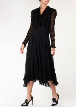 Шелковое платье Zimmermann с прозрачными вставками, фото
