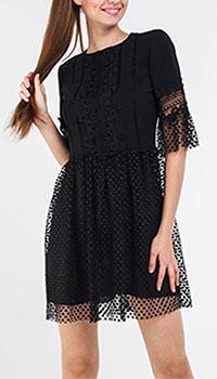 Кружевное платье Blugirl черного цвета, фото