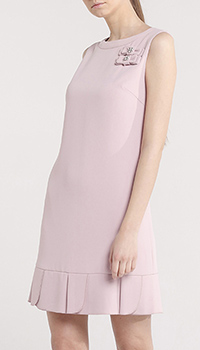 Платье с бантами Blugirl Blumarine нежно-розового цвета, фото