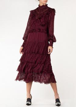 Бордовое платье Zimmermann с рюшами, фото