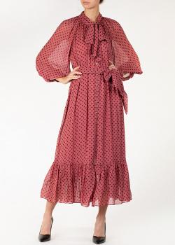 Платье в горох Zimmermann с бантом на шее, фото