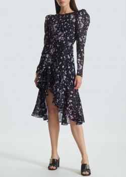 Черное платье Miss Sixty с мелким цветочным принтом, фото