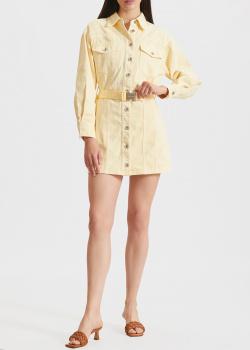 Джинсовое платье Miss Sixty желтого цвета, фото