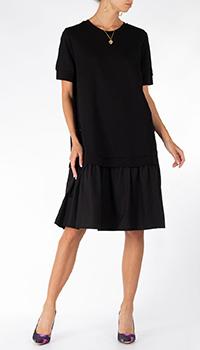 Черное платье Riani с пышными рукавами, фото