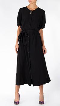 Черное платье Riani на пуговицах из шелка, фото