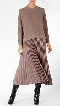 Коричневое платье Riani с плиссированной юбкой, фото