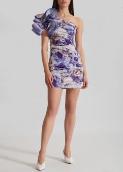 Приталенное платье Elisabetta Franchi с цветочный принтом, фото