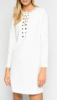 Белое платье Pinko с заклепками, фото