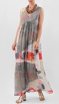 Длинное платье Emporio Armani с V-образным вырезом, фото