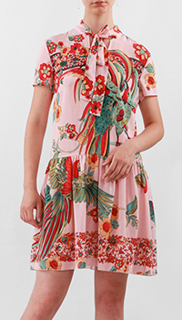 Шелковое платье Red Valentino розового цвета, фото
